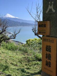 峠から見る富士山